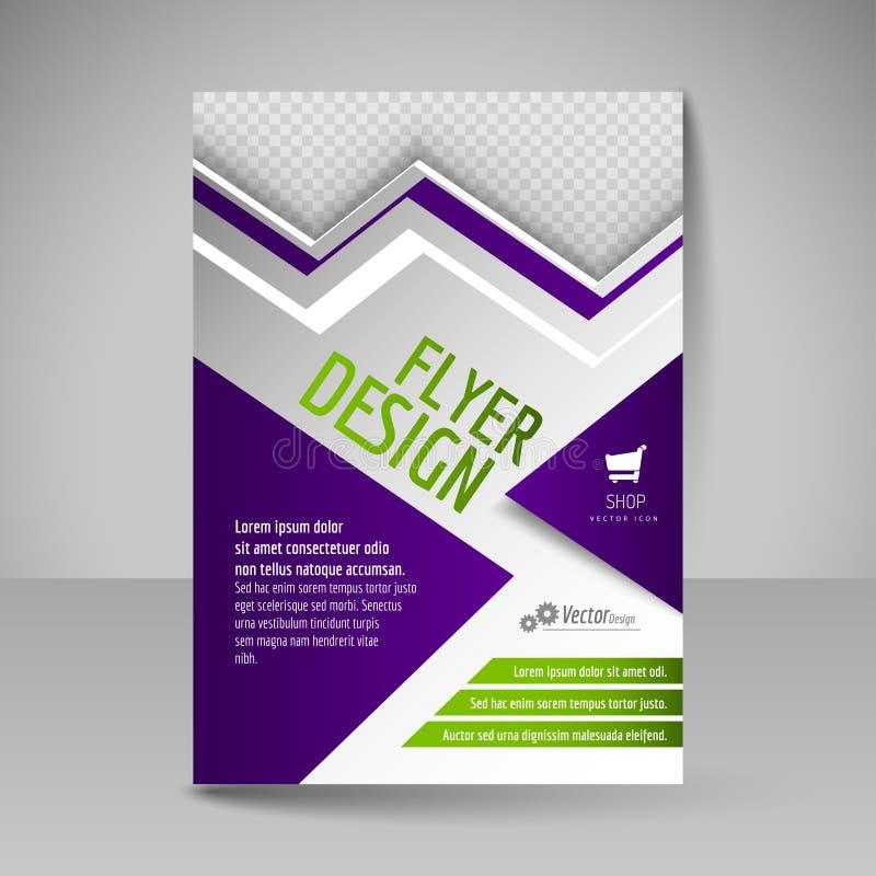 Affiche A4 Editable pour la couverture de conception du magazine Calibre d'insecte illustration de vecteur