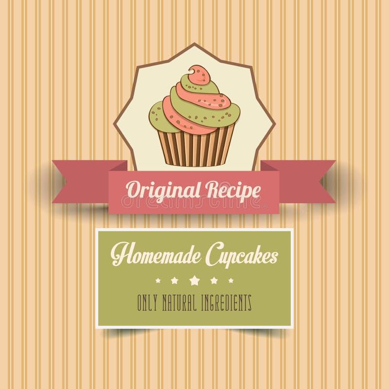 Affiche faite maison de petits gâteaux de vintage illustration libre de droits