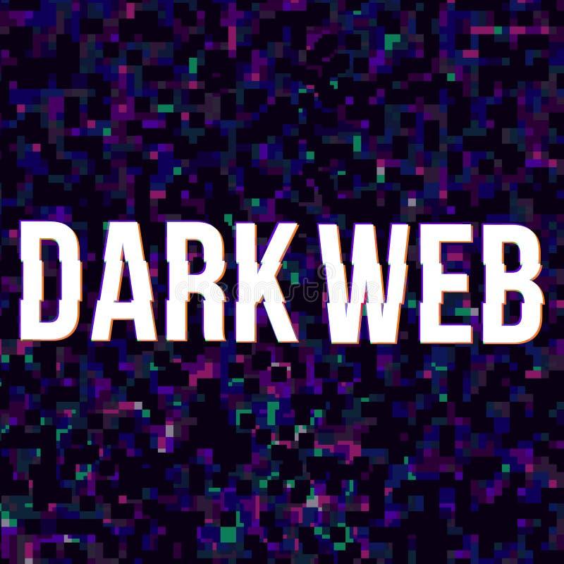 Affiche foncée de Web illustration libre de droits
