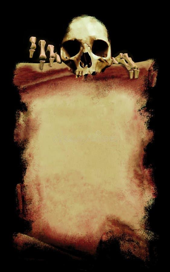 affiche grunge de veille de la toussaint illustration stock