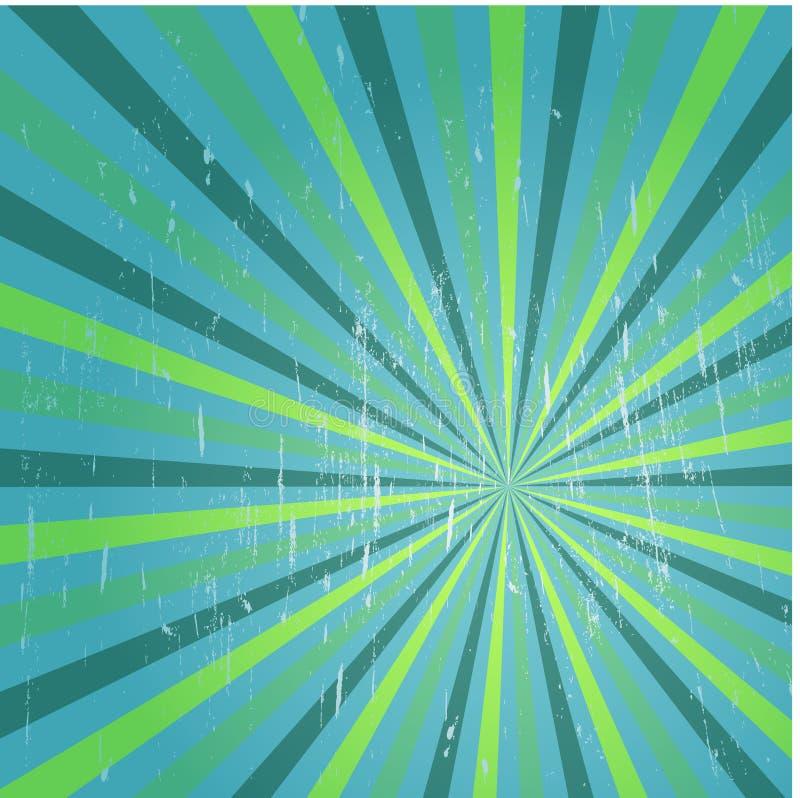 Affiche grunge de vintage du fond A de rayons de soleil multicolores illustration libre de droits