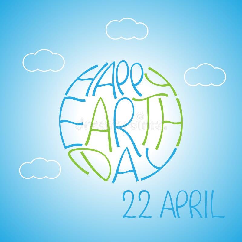 Affiche heureuse créative de jour de terre illustration de vecteur