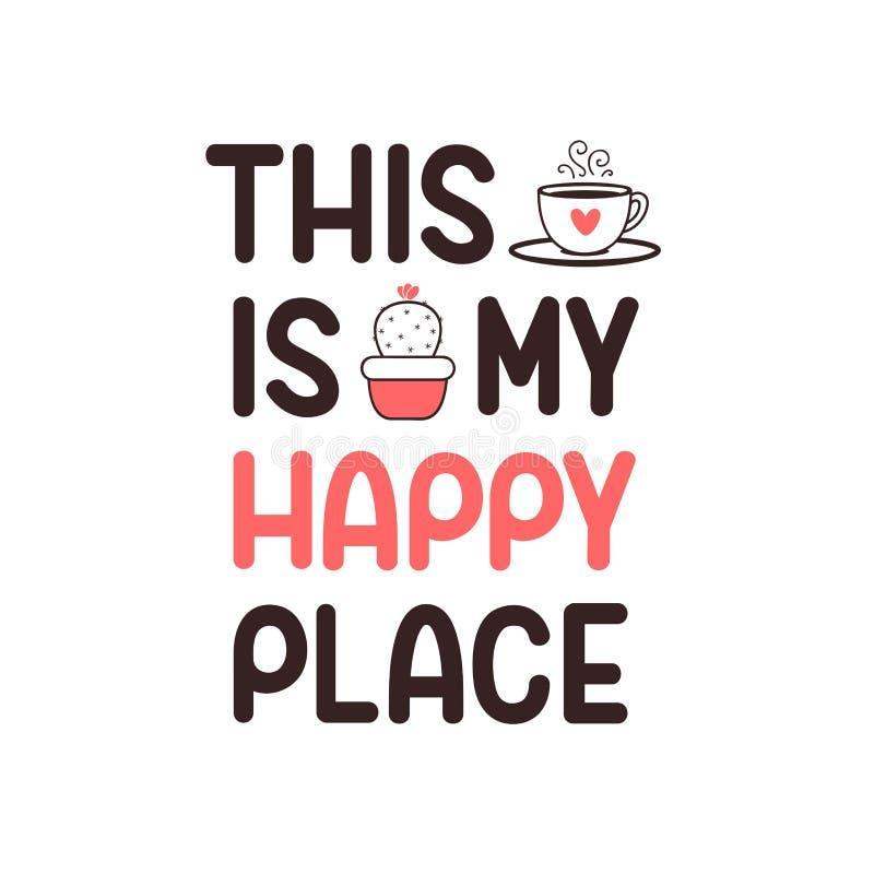 Affiche heureuse d'endroit illustration libre de droits