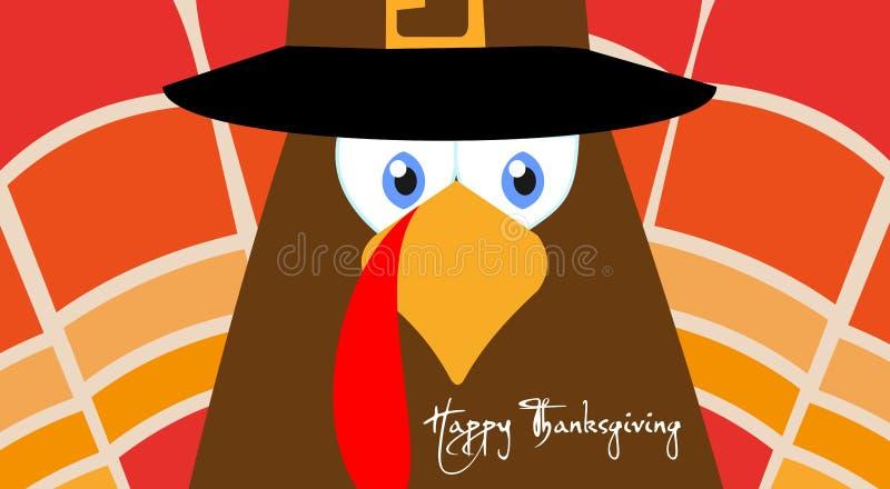 Affiche heureuse de carte de voeux de conception d'illustration de vecteur de jour de thanksgiving illustration stock
