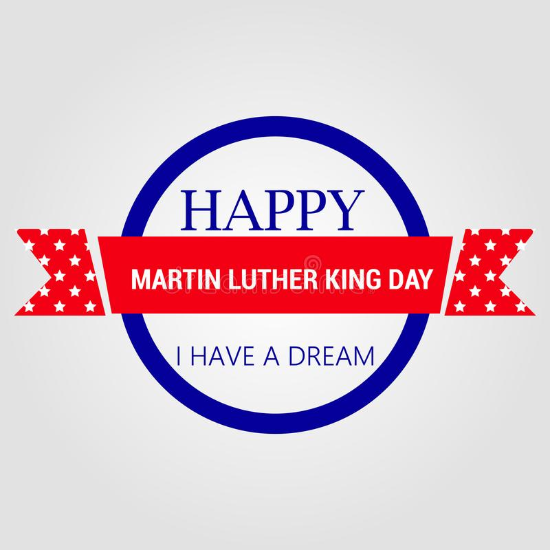 Affiche heureuse de carte de voeux de jour de Martin Luther King illustration libre de droits