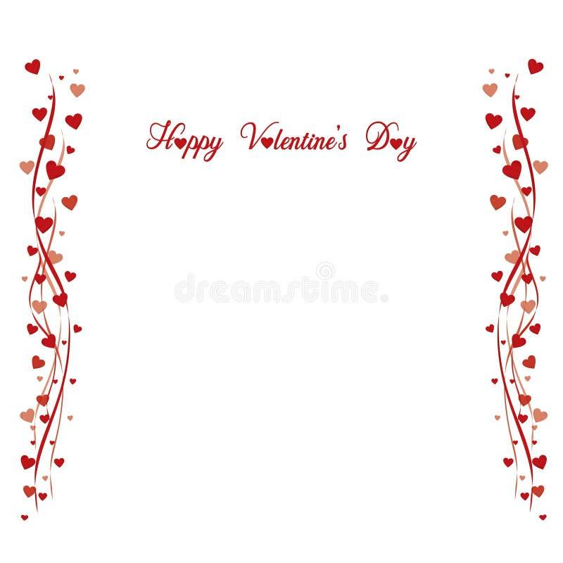 Affiche heureuse de ` de jour de valentines de ` avec l'inscription image libre de droits