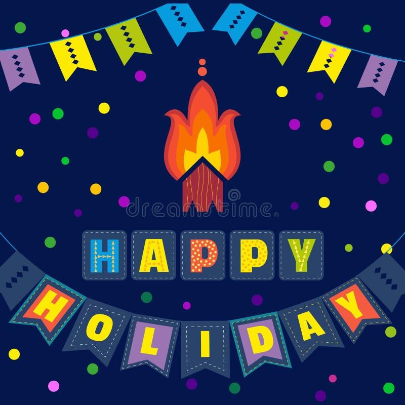 Affiche heureuse de vacances illustration libre de droits