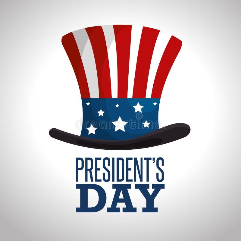 Affiche heureuse des Présidents Day illustration stock