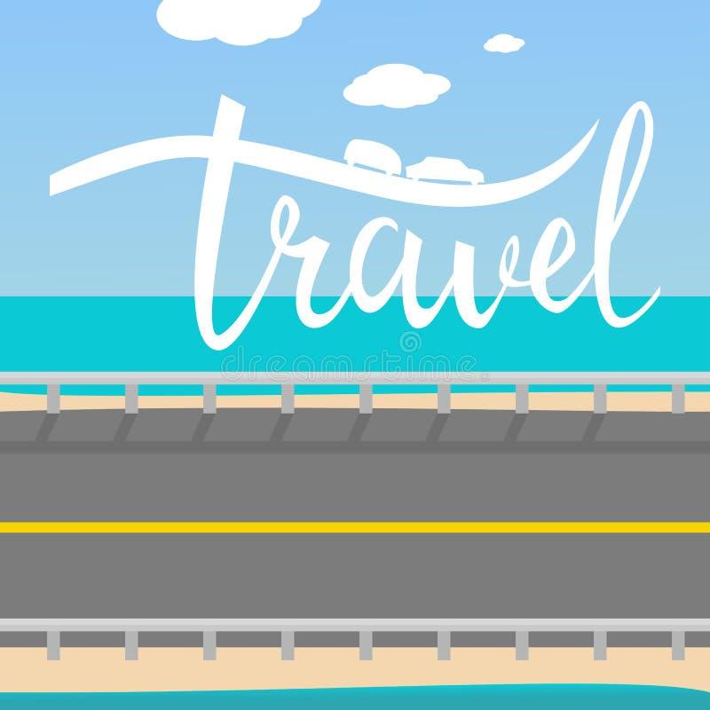 Affiche inspirée typographique de voyage illustration stock