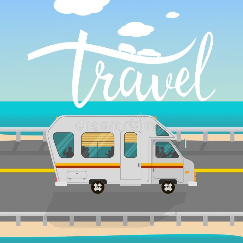 Affiche inspirée typographique de voyage illustration libre de droits