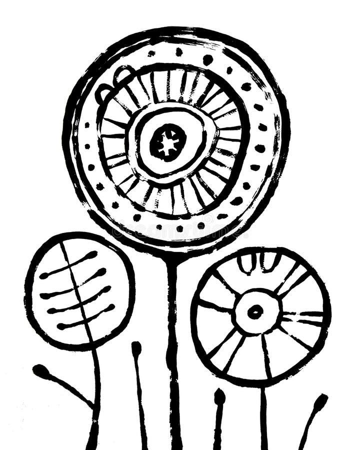 Affiche intérieure d'abrégé sur hippie Calibre pour imprimer la qualité de haute résolution illustration de vecteur