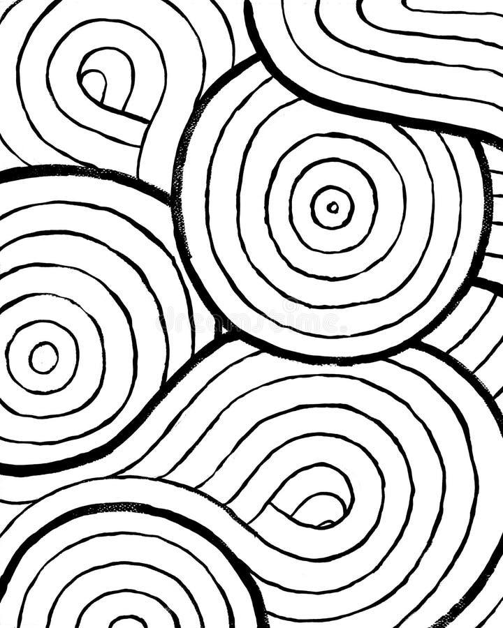 Affiche intérieure de Backround de résumé à imprimer Style grunge sale tiré par la main illustration libre de droits