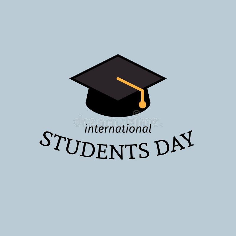 Affiche internationale de jour d'étudiants illustration libre de droits
