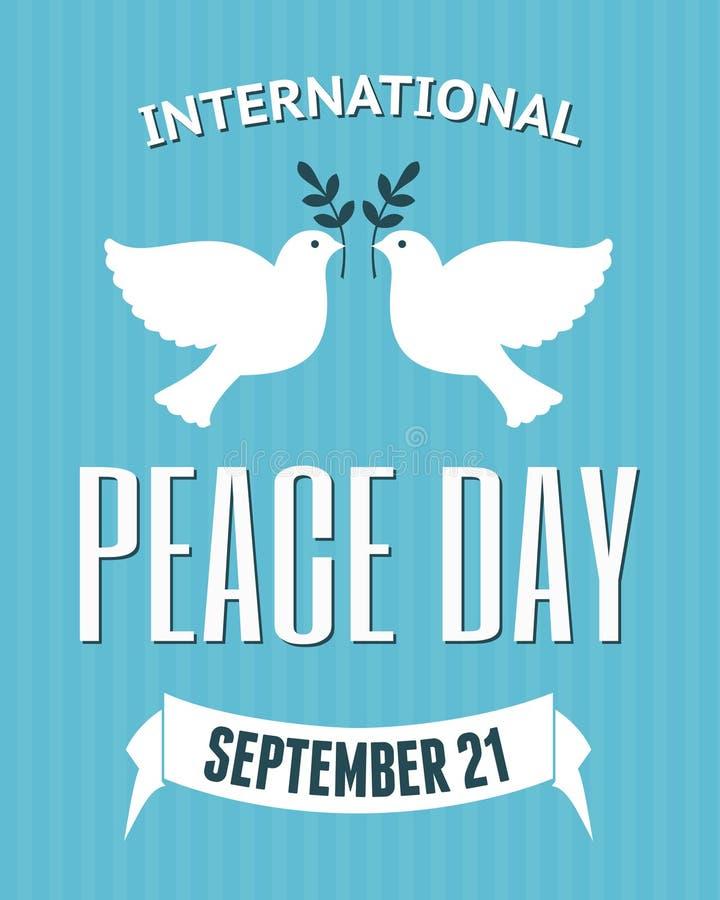 Affiche internationale de jour de paix illustration libre de droits