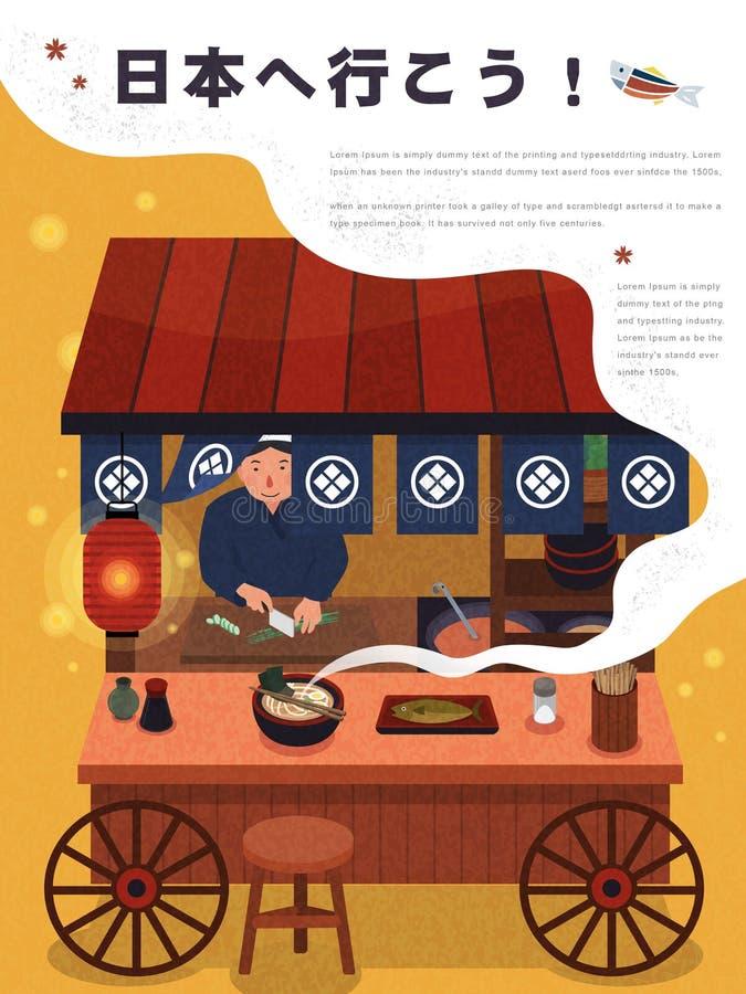 Affiche japonaise de tourisme illustration de vecteur