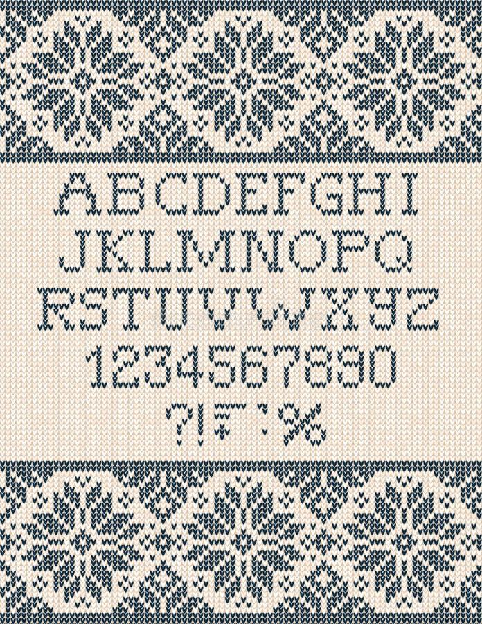 Affiche laide de vente d'hiver de saison de chandail Ornements tricotés de Scandinave de modèle de fond illustration de vecteur