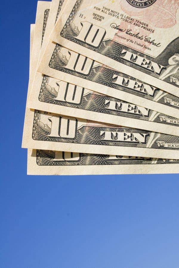 affiche les dollars dix image stock