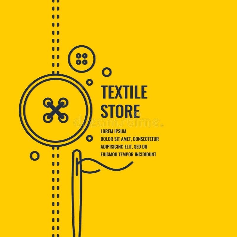 Affiche linéaire de Minimalistic pour la boutique de textile illustration libre de droits