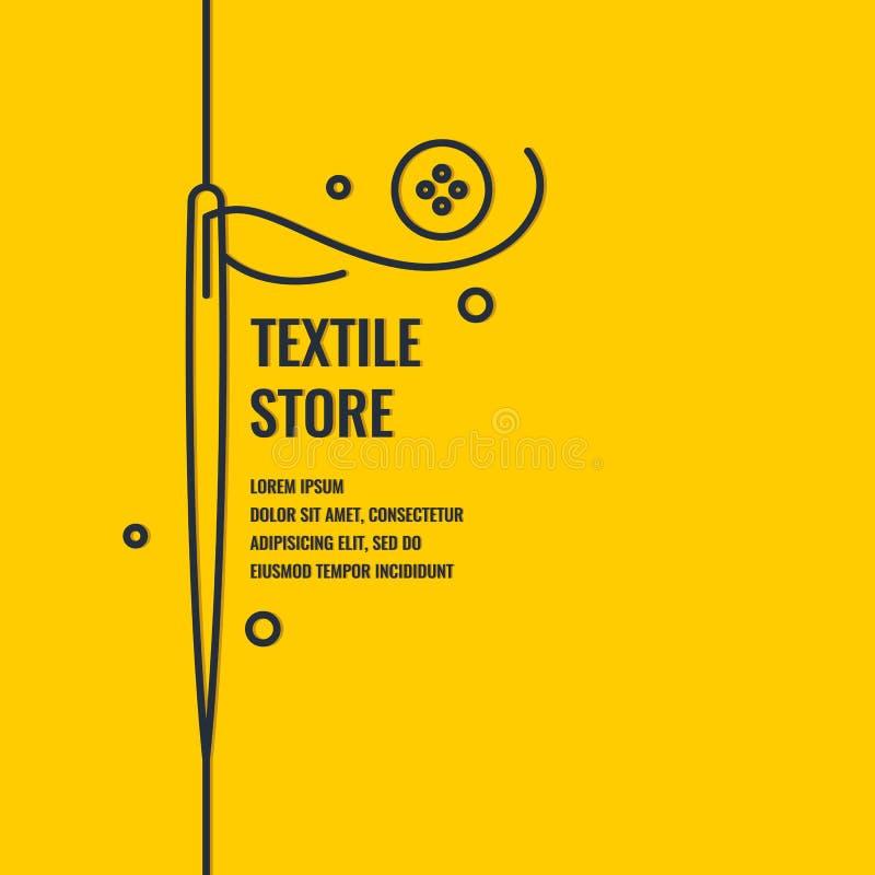 Affiche linéaire de Minimalistic pour la boutique de textile illustration de vecteur