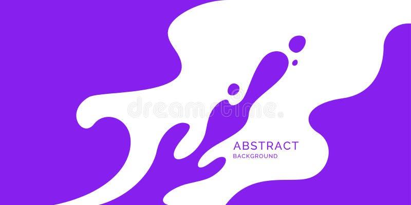 Affiche lumineuse avec l'éclaboussure Style plat minimal d'illustration illustration libre de droits
