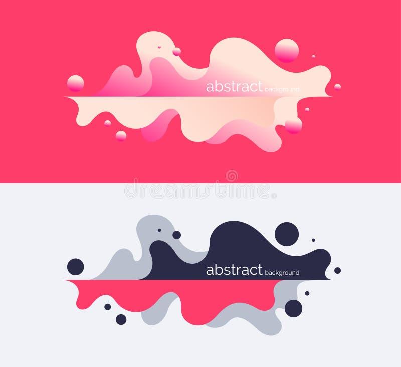 Affiche lumineuse avec les vagues dynamiques Illustration de vecteur dans le style minimal illustration libre de droits
