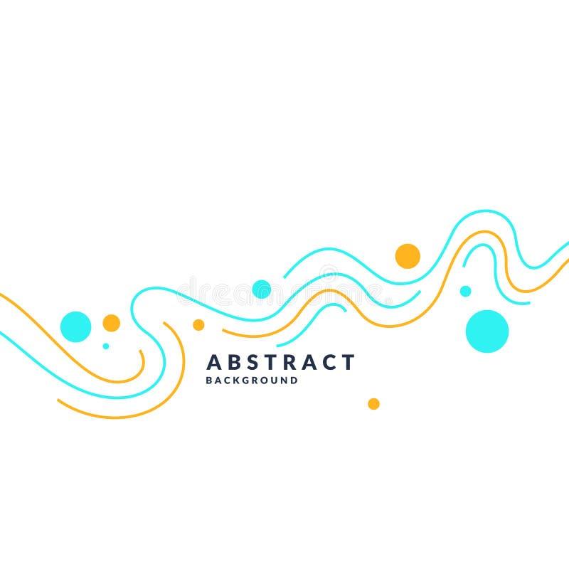 Affiche lumineuse avec les vagues dynamiques Style plat minimal d'illustration illustration libre de droits