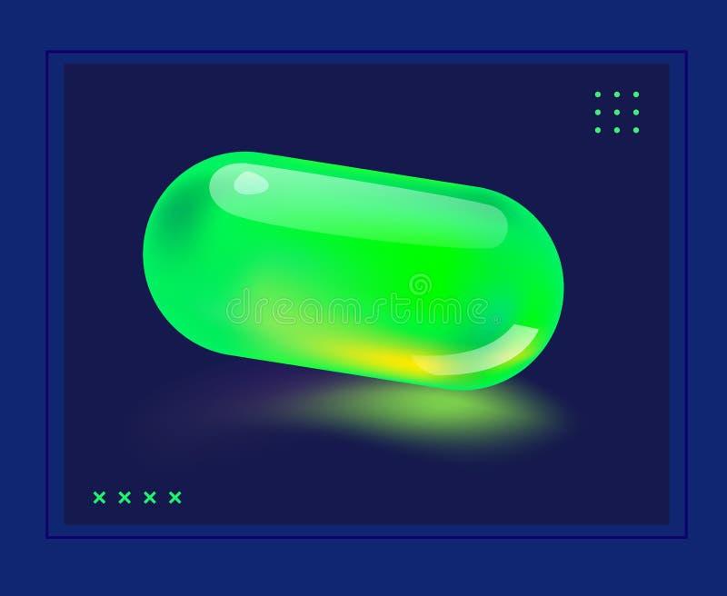 Affiche met koel ontwerp en abstracte elementen vector illustratie