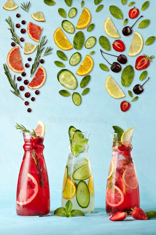 Affiche met limonades stock afbeelding