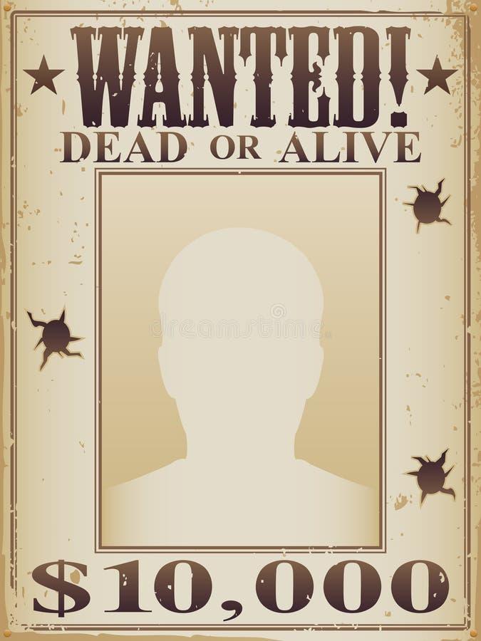 Affiche morte ou vivante voulue illustration libre de droits