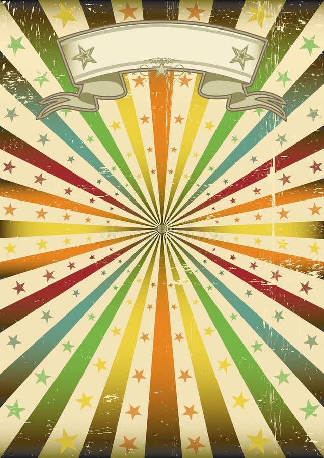 Affiche multicolore de grunge de Sunbeans illustration libre de droits