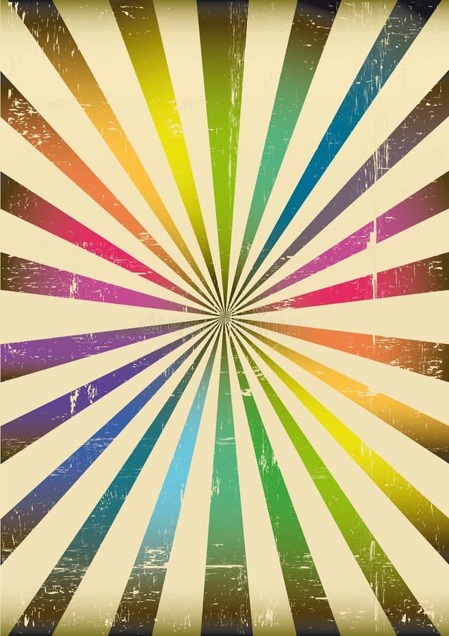 Affiche multicolore de rayons de soleil illustration de for Fond affiche gratuit