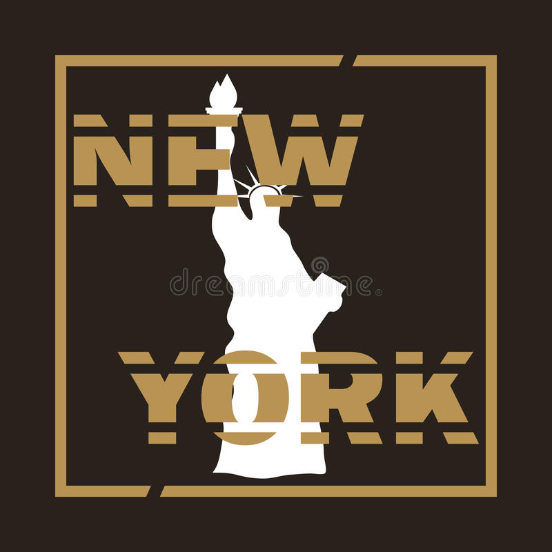 affiche new york illustration stock illustration du couleur 89628341. Black Bedroom Furniture Sets. Home Design Ideas