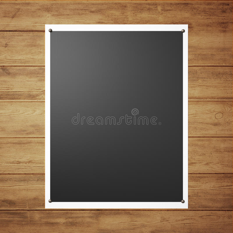 Affiche noire sur le mur illustration stock