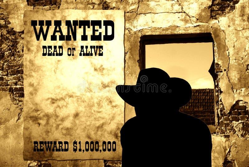 Affiche occidentale sauvage III photo libre de droits