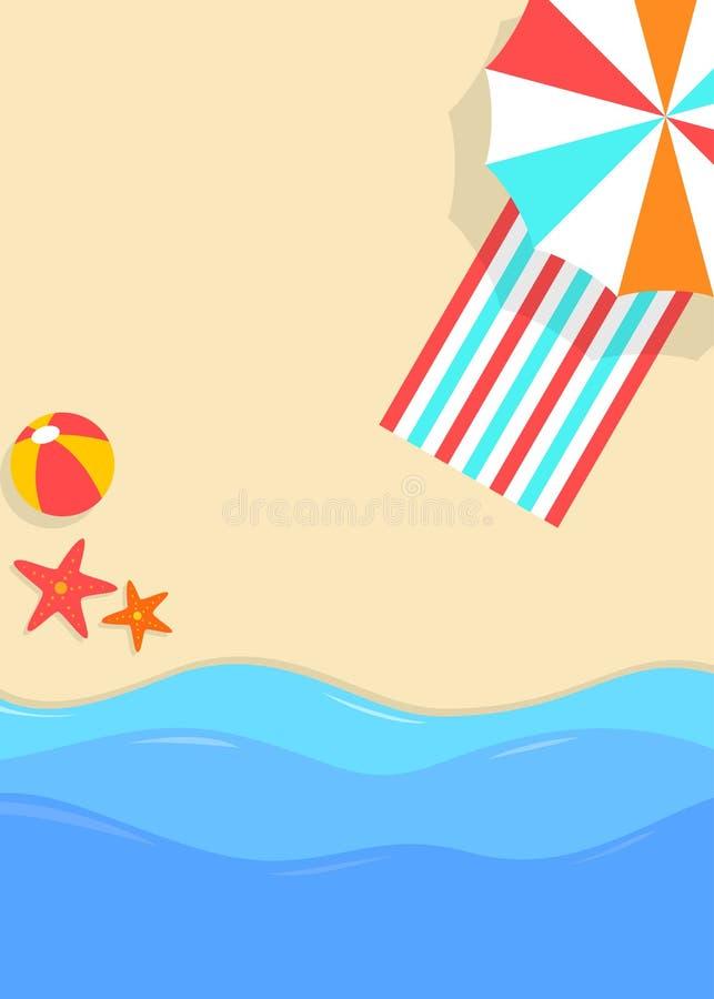 Affiche orientée de plage tropicale d'été illustration libre de droits