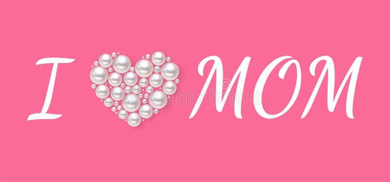 Affiche ou bannière du jour des femmes heureuses pour les vacances du jour de mère illustration libre de droits