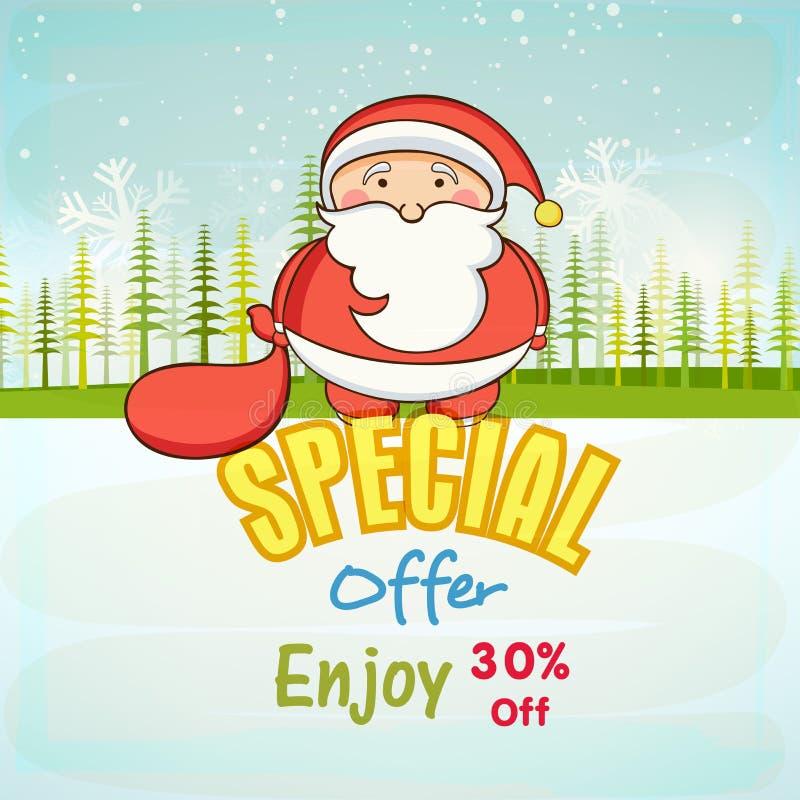 Affiche ou bannière pour l'offre spéciale de Noël illustration libre de droits