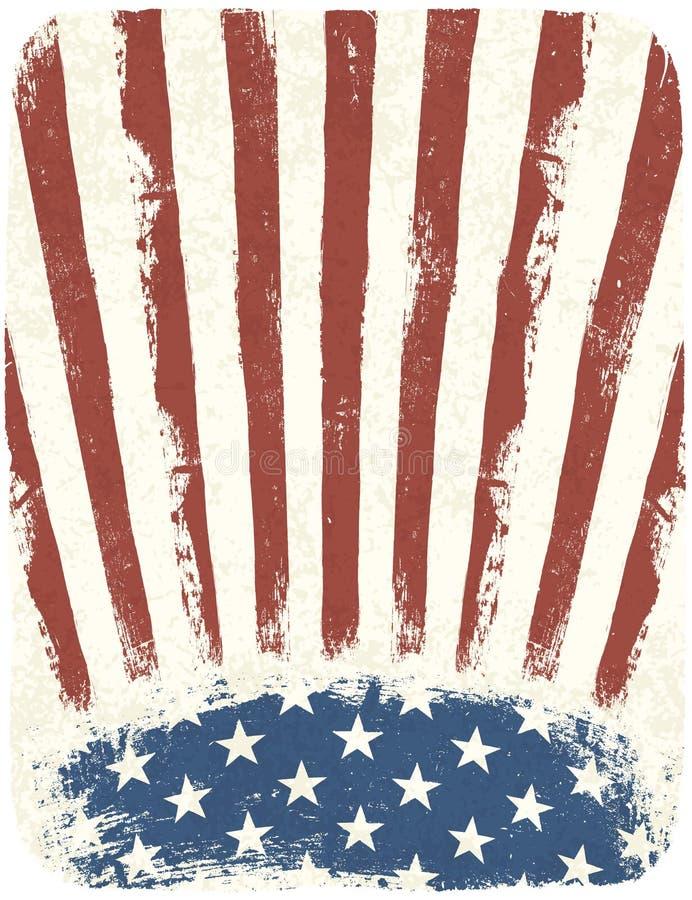 Affiche patriotique américaine illustration libre de droits