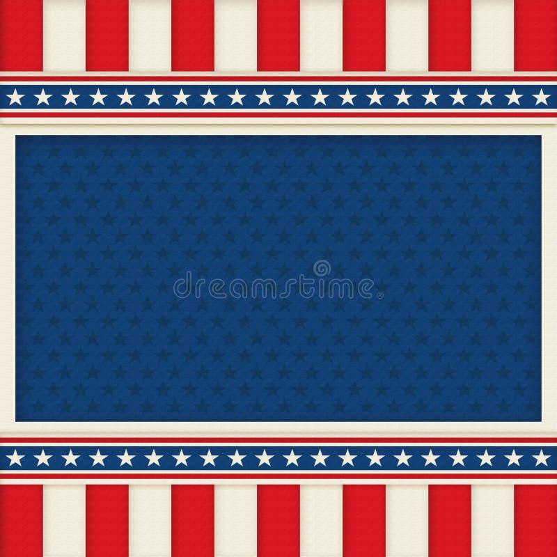 Affiche patriotique Art Memorial Day de fond le 4ème juillet illustration stock