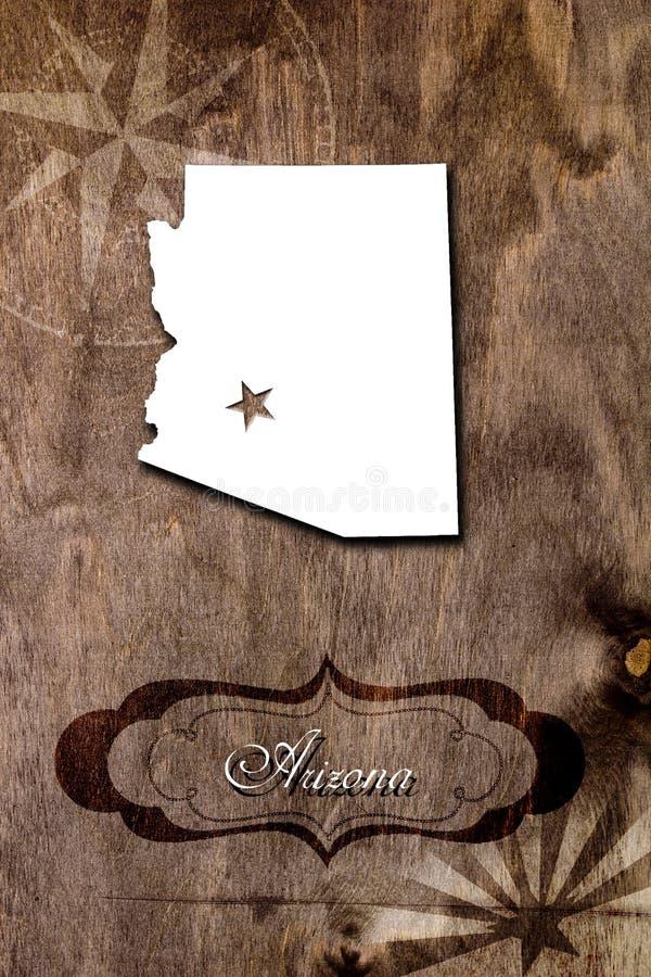Affiche pour l'état de l'Arizona illustration stock