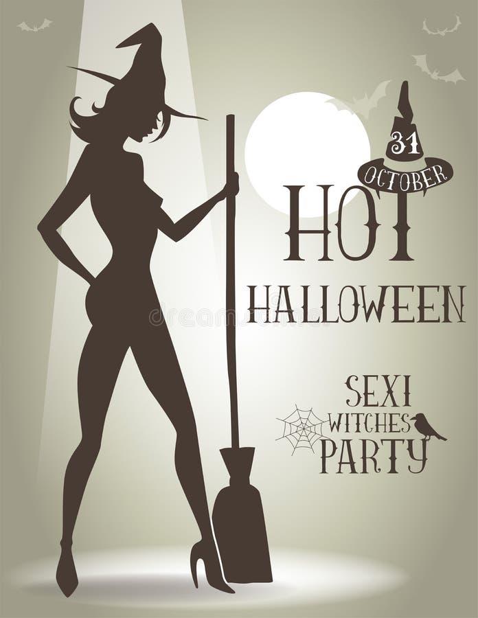 Affiche pour la partie de Halloween illustration de vecteur