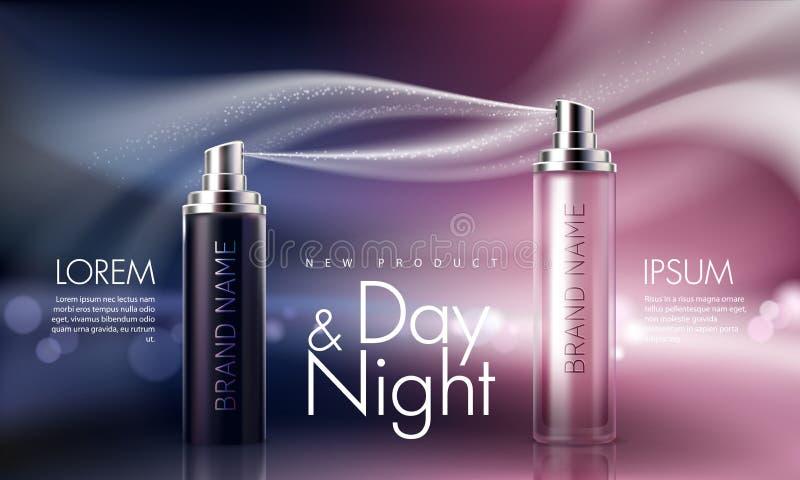 Affiche pour la promotion d'hydrater et de nourrir le produit de la meilleure qualité cosmétique illustration stock