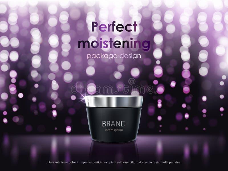 Affiche pour la promotion du cosmétique hydratant le produit de la meilleure qualité illustration de vecteur