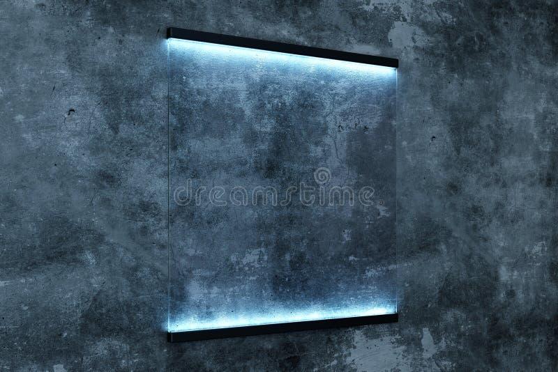 Affiche rectangulaire rougeoyante créative photo libre de droits