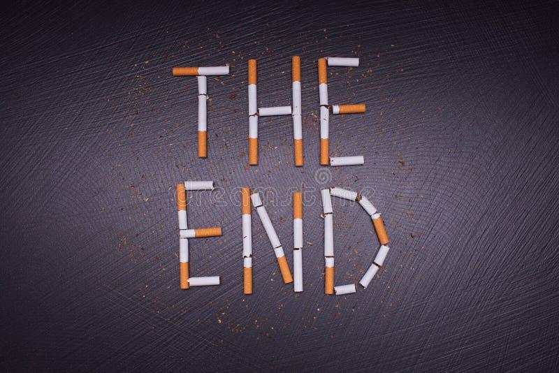 Affiche tegen het roken stock afbeeldingen