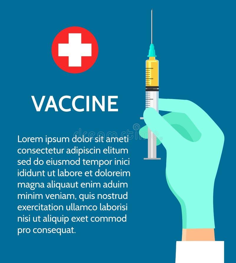 Affiche vaccinique de médecine illustration libre de droits