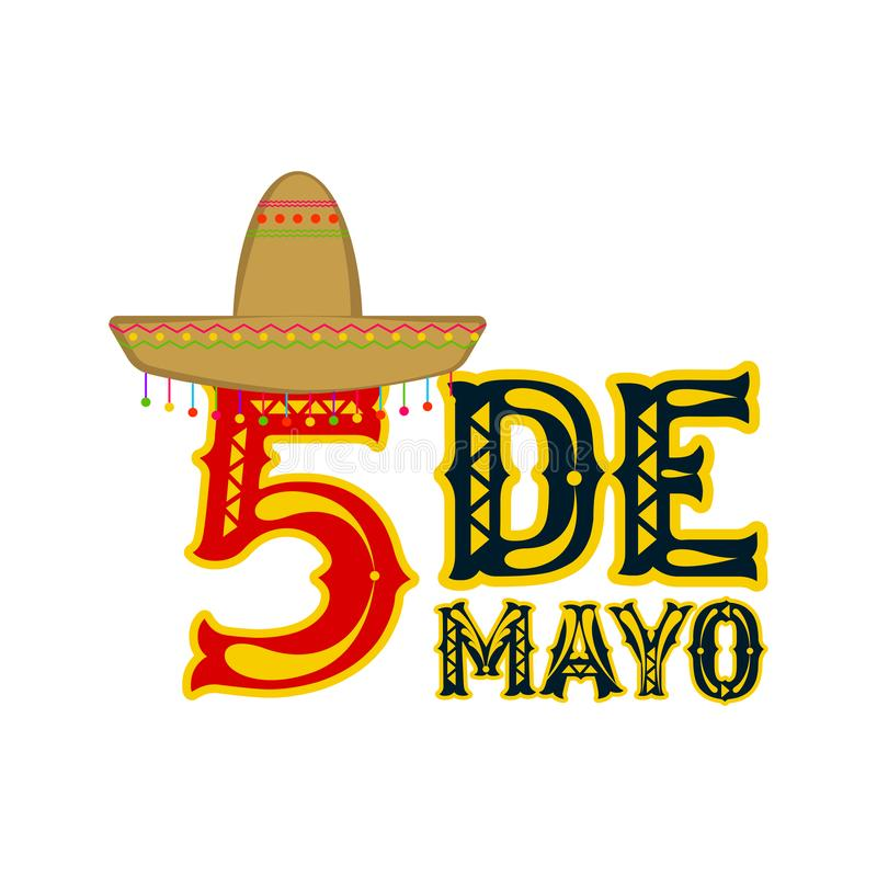 Affiche van cinco DE Mayo vector illustratie