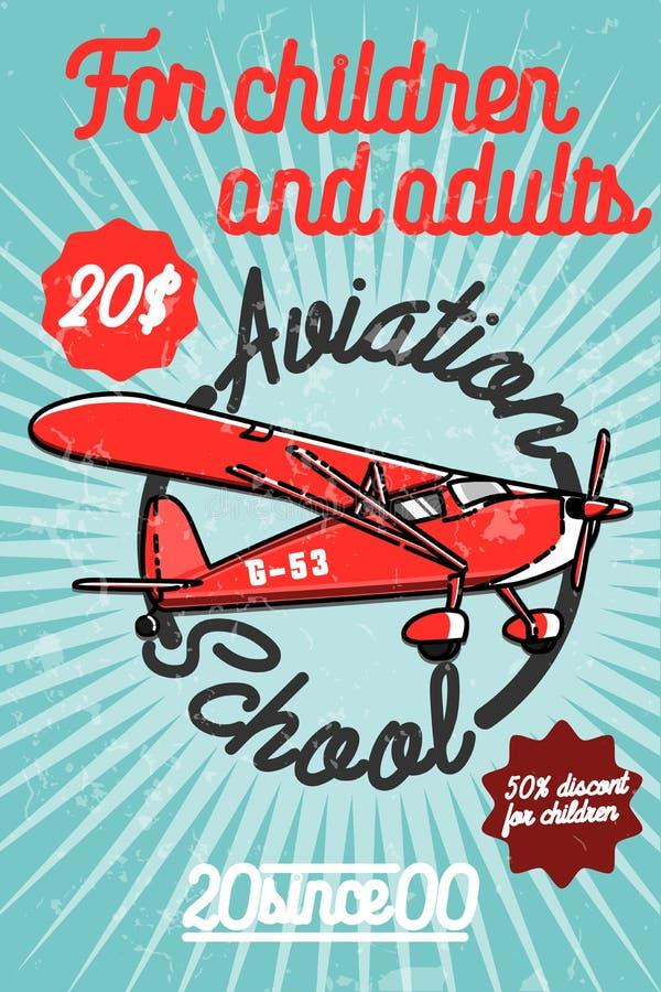 Affiche van de kleuren de uitstekende Luchtvaart vector illustratie