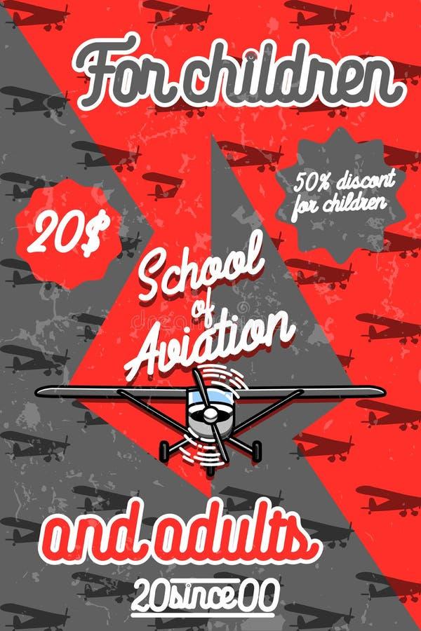 Affiche van de kleuren de uitstekende Luchtvaart stock illustratie