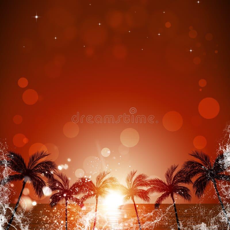 Affiche van de de zomer de Koele Gebeurtenis stock illustratie